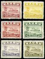 1937-48 Smooth Paper Ships set of 14 MLH. 2/6d value with small thin. Sg 26Bc-39B.