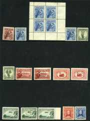Collection of 281 different mint Pre-Decimal issues from 1914 to 1965 including 1914 6d Claret Kooka, 1927 1½d Canberra, 1928 3d Kooka, 1929 3d Airmail Type A, 1929 1½d WA Centenary and 1930 Sturt set perforated OS, 1928 3d Kooka M/S (Thinned), 1929 3d Airmail Type A and B, 1931 6d Airmail O/P OS, 1932 1/- Lyrebird, 1932 1/- Lyrebird O/P OS (MUH), 1934 Perf 10½ and 11½ Vic Centernary sets, 1934 Macarthur set, 1934 1/6 No Wmk Hermes, 1935 Anzac set, 1935 Silver Jubilee set, 1936 SA Centenary set, 1937 NSW Sesqui set, 1937-40 3d Blue Die I, Die II Thin Paper and Die III KGVI, 1940 AIF set, 1946 BCOF set, 1961 5/- Cream Paper Cattle and 1963-64 Navigator set (£2 MUH). Generally fine condition with some minor faults.