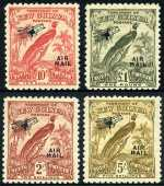 1931 Dated Birds set O/P Air Mail MLH. Sg 163-176.