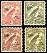 1932-34 Undated Birds set O/P Air Mail mint hinged. 2/- with light crease. Sg 190-203.
