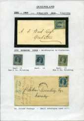 Selection of 80 mostly used stamps including Chalons Head set to £1, 6d Green Chalon Head overprinted