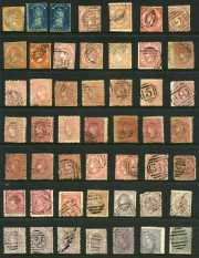 Selection of 168 mostly used stamps including range of imperf issues, perforation and watermark variations and some duplication. Noted 1907 £1 Salmon perf 12½ Crown over A Wmk KEVII used. Varied condition.