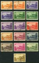 1947-56 Ball Bay set including ½d, 1d, 1½d and 2d White Paper VFU.