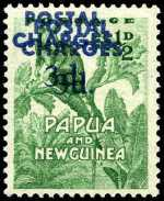 1960 3d on ½d Emerald Postal Charges with forged