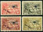 1931 Huts set O/P Air Mail MLH. 6d and 9d values have minor faults. Sg 137-149. Retail $425.00.