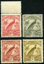 1931 Dated Birds set MLH. 10/- value is MUH. 1d, 5d, 9d and £1 values with minor faults. Sg 150-162. Catalogue Value $735.00.