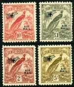 1931 Dated Birds set O/P Air Mail MLH. £1 value has a few shortish perfs. Sg 163-176. Retail $400.00.