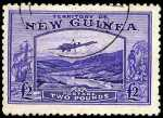 1935 £2 Bright Violet Bulolo Air Mail very fine used with a few short perfs. Sg 204. Catalogue Value $273.00.