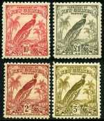 1932-34 Undated Birds set MLH, a few values MUH. Sg 177-189. Retail $325.00.