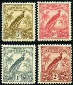 1931 Dated Birds set to 10/- value MLH. 1d value has small crease. Sg 150-161. Catalogue Value $403.00.