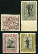 1932 Pictorial Definitive set MLH. Some lower values have faults, but all values above 1/- are fine fault free copies, the 2/- and £1 being MUH marginal copies. Sg 130-145. Catalogue Value $841.00.