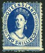 1880 2/- Blue Queen Victoria Postal Fiscal in fine mint hinged condition. Sg 120. Catalogue Value $252.00.
