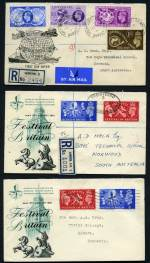 Collection of 90 illustrated FDC's from 1937 to 1970 including 1940 Stamp Centenary set, 1948 Olympic Games set (2), 1949 UPU set and largely complete simplified Commemoratives from 1951 Festival of Britain set to 1970 Christmas set, but includes some Phosphor sets, booklet panes and Definitive issues. Odd minor blemish. Catalogue Value $3,100.00+.