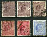 1902-13 Selection of KEVII High Values comprising 2/6 (4), 5/- (4) and 10/- (2) including various printings and shades. Sg 260, 263 (2), 265, 316, 217 (2), 318 (2) and 319. Typical commercially used copies with some minor faults. Catalogue Value $4,835.00.