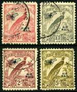 1932-34 Undated Birds set O/P Air Mail FU. 9d and 2/- values with a few short perfs. Sg 190-203. Catalogue Value $578.00.