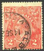 1922 2d Red Single Wmk KGV with Recut