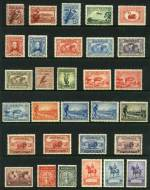 Collection of mint Pre-Decimal issues from 1914 to 1965 including 1914 6d Claret Kooka, 1931 6d Brown Airmail, 1932 1/- Lyrebird, 1934 Vic Centenary set, 1934 Macarthur set, 1935 Anzac set, 1935 Silver Jubilee set, 1936 SA Centenary set, 1937 NSW Sesqui set, 1938 Thick Paper Robe set, 1940 AIF set, 1949-50 Arms set and 1963-64 Navigator set. Generally MLH condition with odd fault.
