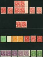 Selection of 180 mint KGV issues including 1913 1d Rose-Red Engraved part imprint block of 4 right side with Weak entry right side variety, 1914-24 1d Red (3), 1d Violet (5), 1�d Scarlet (17, inc block of 4 with Thin