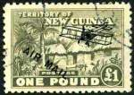 1931 £1 Olive-Grey Hut O/P Air Mail FU and well centered. Superb. Sg 149. Catalogue Value $540.00.