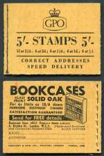 1955 2/6 Wilding (Post Early), 1956 2/6 Wilding, 1965 3/- Wilding with phosphor bands and 1956 5/- Wilding booklets MUH. Sg F25, F45, M73p and H20. Retail $305.00.
