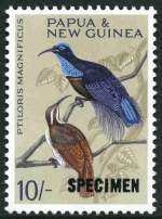 1964 10/- Bird O/P Specimen MUH and well centered. Retail $150.00.