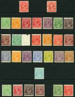 Collection of 57 different mint KGV issues including Single Wmk set [excluding 1d Red Die II and 4d Lemon], 1d Red Large Mult Wmk, 1d Green Die II, 3d Blue Die II, 4d Olive and 4�d Violet Small Mult Wmk perf 13�, C of A Wmk set (excluding 4d Olive) and 5d Brown O/P OS. Mostly fine MLH condition with odd fault. High retail value.