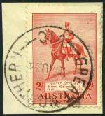 Great Northern Commonwealth type CDS postmark on 2d Silver Jubilee on piece dated 10 Au 34. (Being on a 1935 stamp the year is obviously incorrectly set). A full clear strike. Rated RRR.