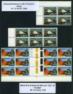 1976 Explorers duplicated range of major listed varieties in MUH positional pairs and blocks. (174 stamps with 32 varieties). ACSC Catalogue Value $480.00.