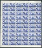 1963 4/- Tasman part sheet of 60 MUH. Mainly well centered.