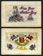 Selection of 11 attractive WWI era silk postcards including Army Ordnance Corps Regimental badge and