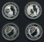 1999 and 2000 1oz Kookaburra Silver Specimen coins in presentation case. Retail $150.00.