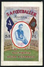 1922, 1923, 1924 and 1926 S.A. Footballer Premiership Souvenir, 1923, 1925 and 1926 Victoria v South Australia, 1925 and 1926 W.A. v S.A. 1925 Tasmania v South Australia S.A Footballer Interstate Souvenirs in remarkably fine condition. Rare. Also Sturt Football Club Souvenir Jubilee Year Book 1951 and 1960's Sturt Football Club signed team photo 21cm x 28cm print, plus 2 early Cricket postcards.