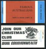 1968 Famous Australians Stapled remake booklet with wax interleaving MUH. Edition No G68/3. Stapled remake unrecorded in specialist catalogue.