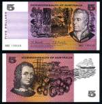 1967 $5.00 Coombs/Randall Commonwealth of Australia paper banknote EF. Serial No NBG 139648. McDonald 141. Rennicks 202. Catalogue Value $140.00.