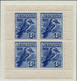 Largely complete MUH Pre-Decimal and Decimal collection from 1914 to 1973 including Australian Antarctic Territory and Cocos (Keeling Island) in Lighthouse Hingeless album. Includes 1914 6d Claret Kooka, 1928 3d Blue Kookaburra M/S (tiny tone spot), 1931 2d and 3d Kingsford Smith O/P OS (3d MLH), 1932 1/- Lyrebird (MLH), 1932 1/- Lyrebird O/P OS, 1932 5/- Green Sydney Harbour Bridge (Superb MLH and well centered), 1934 1/- Perf 11½ Vic Centenary (MLH), 1934 Macarthur set of 4, 1934 1/6 No Wmk Hermes, 1935 Anzac set, 1935 Silver Jubilee set, 1936 SA Centenary set, 1937 NSW Sesqui set, 1937-40 3d Blue Die I White Wattles, Die I, Die 1A, Die II Thick and Thin Paper KGVI, 1937-38 Perf 13½ Zoological set, 1938-49 Thick and Thin Paper Robe sets, 1940 AIF set, 1946 BCOF set, 1949-50 Arms set, 1961-64 5/- Cream and White Paper Cattle and 1963-64 Navigator set of 8. Mainly well centered with a retail value over $4,500.00.