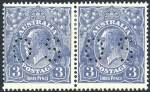 1926 3d Blue Small Multiple Wmk perf 14 KGV perforated OS