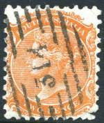 Diamond numeral cancellation number 314 on 1877 2d Orange-Red Queen Victorian issue. The highest number of the diamond numerals and yet to be allocated. Full clear strike. Rated RRR.