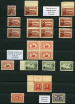 Collection of mint Pre-Decimal issues from 1914 to 1965 in singles, pairs and blocks including range of varieties in Lighthouse stockbook. Noted 1914 6d Claret Kookaburra MUH, 1929 1½d WA Centenary block of 4 with Re-entry to swan's neck and