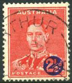 1941 2½d KGVI Surcharge with