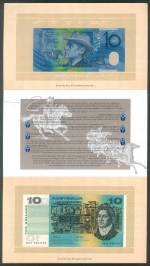1993 $10.00 First and Last paper and dated polymer note standard folder.