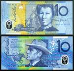 1993 $10.00 Fraser/Evans consecutive run of 10 Polymer banknotes Unc.