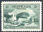 1932 5/- Green Sydney Harbour Bridge CTO without gum and well centered. Superb.