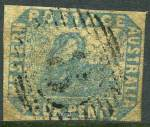 1854 4d Pale Blue Swan with variety