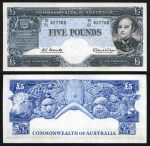 1960 £5 Coombs/Wilson Reserve Bank QEII consecutive run of 10 banknotes good EF. Serial No TD01 427760-427769. Catalogue Value $4,000.00+.