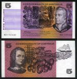 1969 $5.00 Commonwealth of Australia Phillips/Randall banknote EF/aUnc. Serial No NCX 933482. McDonald 142. Catalogue Value $125.00+.