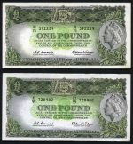 1961 £1 Reserve Bank QEII Coombs/Wilson banknote with Emerald back (4), 3 rated VF and one F. McDonald 52. Rennicks 34b. Catalogue Value $245.00.