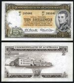 1961 10/- Coombs/Wilson Reserve Bank QEII banknote EF. (10). McDonald 25. Catalogue Value $2,100.00.