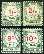 1899 Postage Due set of 11 fine used. Few niggly perfs hardly detract. Sg D2-D4, D6-D9, D11, D12, D14 and D16. Retail $1,100.00.