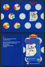 1991 $5.00 Geneva Phonecard in special presentation folder as issued in Geneva. Folder also has 10¢ coin enclosed. Scarce.