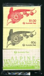 Selection of MUH booklets from 1967 to 1988 including 1967 5¢ Blue QEII 50¢ (2) and $1.00 (3, one CTO), 1968 Famous Aust, 1969 Prime Ministers (2) and 1970 Famous Aust (2).